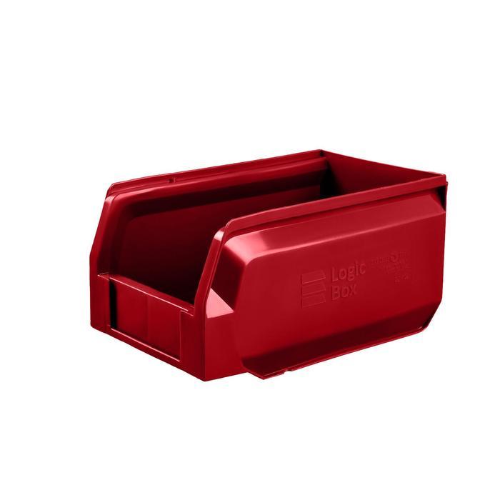 Ящик полимерный многооборотный, 22.402, 25х15х13см, красный