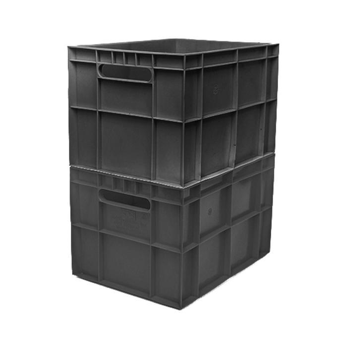 Ящик ФИНПАК сплошной, 303Л, 40х30х26,3см, черный