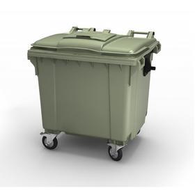 Передвижной мусорный контейнер 1100л., МКА-1100, 137х107,7х139,6см, зеленый Ош