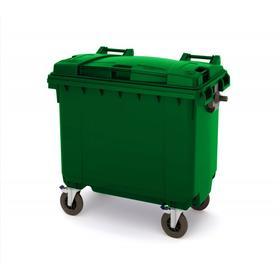 Передвижной мусорный контейнер 770л., МКА-700, 137х78х130см, зеленый Ош