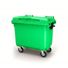 Передвижной мусорный контейнер 660л., МКА-600, 137х78х121,8см, зеленый Ош