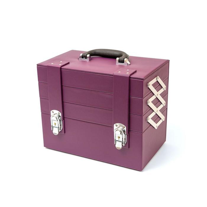 Бьюти-кейс для косметических средств, цвет баклажан