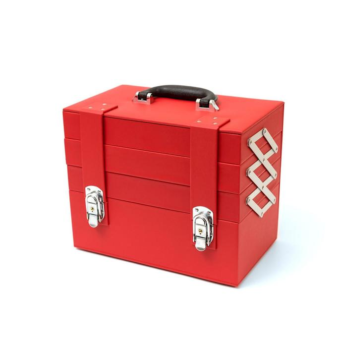 Бьюти-кейс для косметических средств, цвет красный