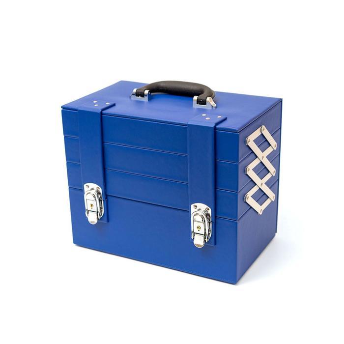 Бьюти-кейс для косметических средств, цвет синий