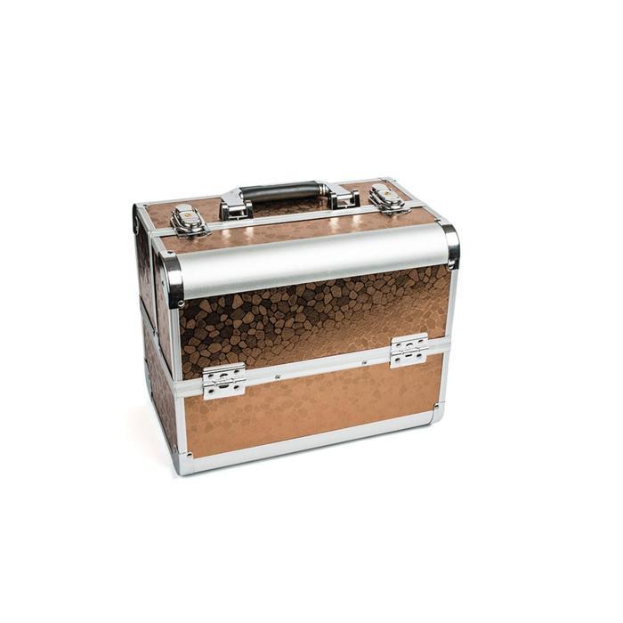 Кейс маникюриста, цвет коричневый, металл