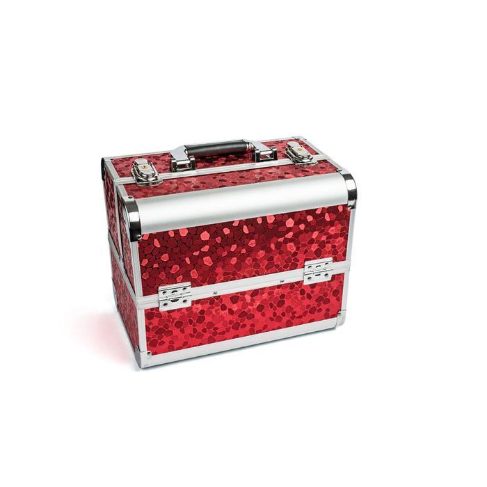 Кейс маникюриста, цвет красный, металл
