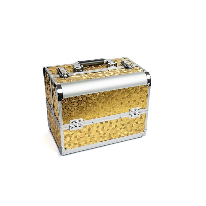 Кейс маникюриста, цвет золото, металл