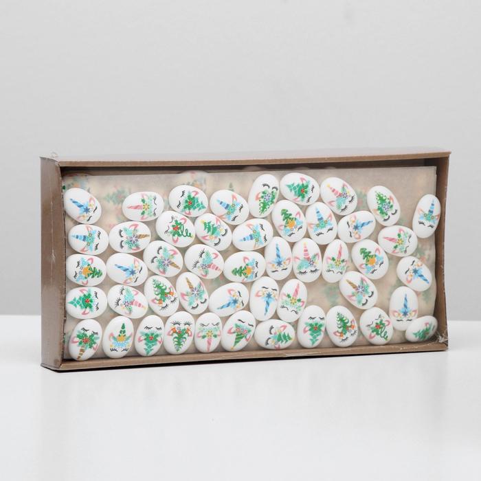 Сахарные фигурки «Медальоны Единорожки», 35х25 мм