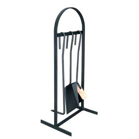 Набор для камина «НКА 01ч», 3 предмета, стойка «арка», цвет чёрный Ош