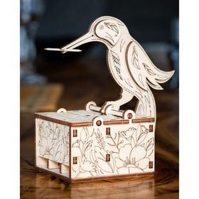 Деревянный интерьерный конструктор 3D EWA Design «Птичка»