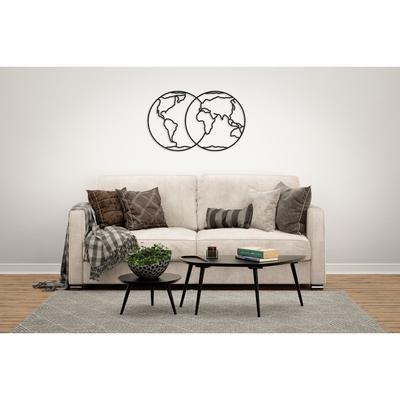 Деревянный интерьерный пазл EWA Design «Полушария Земли» - Фото 1