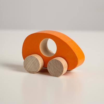Фигурка деревянная «Каталка» «Машинка Томик» оранжевая