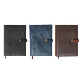 Органайзер формат А5, 140 листов, клетка, с хлястиком, с карманом, обложка пвх МИКС Ош