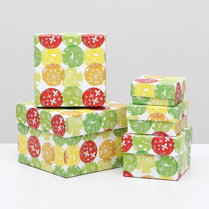 Набор коробок 5 в 1 Шары и бабочки, 12 х 12 х 9 - 6 х 6 х 3 см
