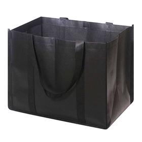 Эко сумка-шоппер для продуктов, многоразовая хозяйственная, черная