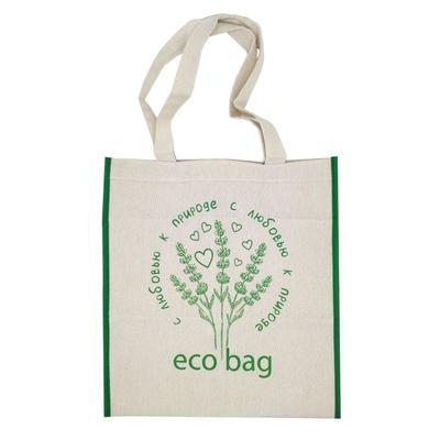 Эко сумка шоппер ECO BAG, длинные ручки