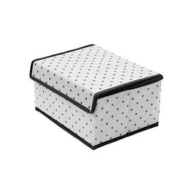 Коробка для хранения вещей с крышкой Eco White, 25х19х13 см