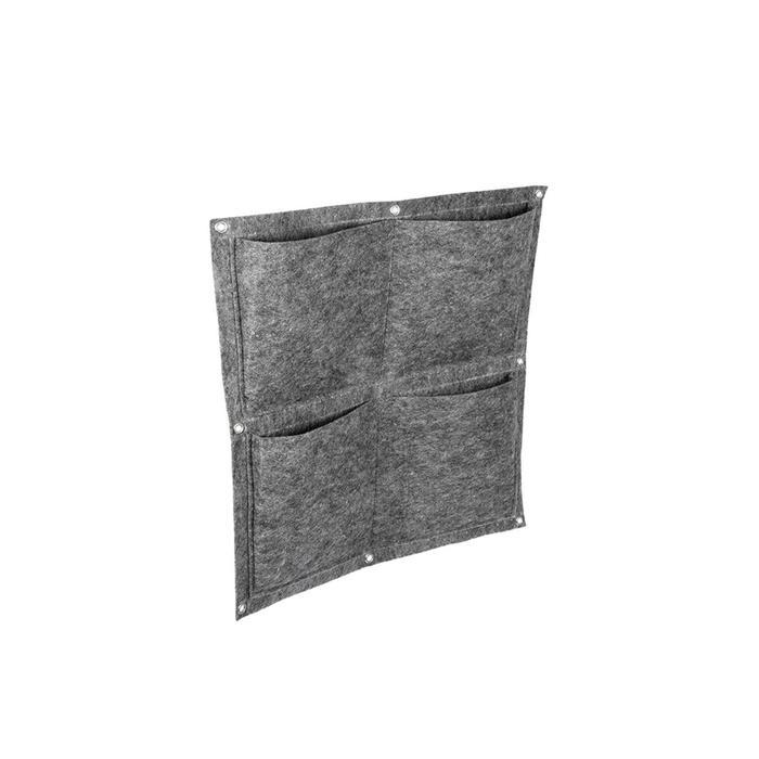 Квадратный органайзер подвесной с 4 карманами, фетр, 50х50 см