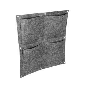 Квадратный органайзер подвесной с 4 карманами, фетр, 35х35 см