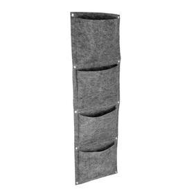Вертикальный органайзер подвесной с 4 карманами, фетр, 30х100 см Ош