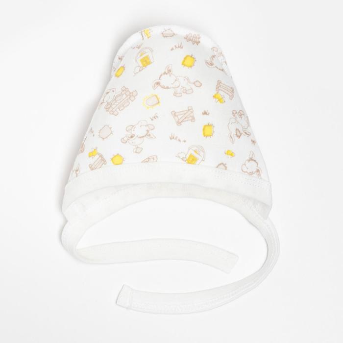 Чепчик детский, цвет молочный, размер 44