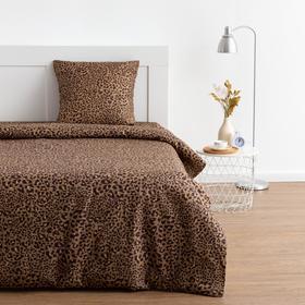 Постельное бельё 1,5 сп Экономь и Я «Леопард» 147х210, 150х215, 70х70-1 шт, 120 гр/м2