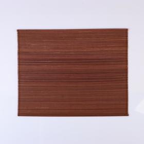 Салфетка плетеная темно-коричневая 40х30 см.(бамбук) Ош