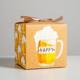 Коробка складная Beer, 12 × 12 × 12 см