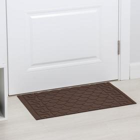 Коврик придверный влаговпитывающий «Рельефный», 41×65 см, цвет коричневый Ош