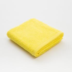 Полотенце махровое «Экономь и Я», 35х60 см, цвет солнечный жёлтый