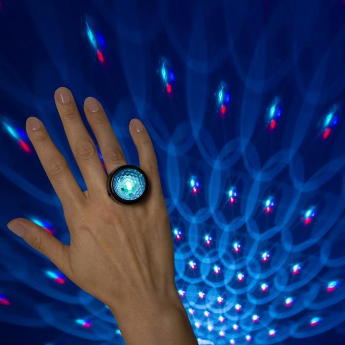 Световой прибор Диско-кольцо, 3х2.5 см, цвет микс, RGB