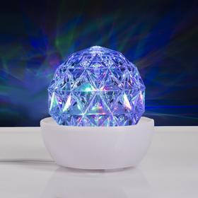 Световой прибор 'Хрустальный шар на подставке', 12х12 см, 220V, RGB Ош