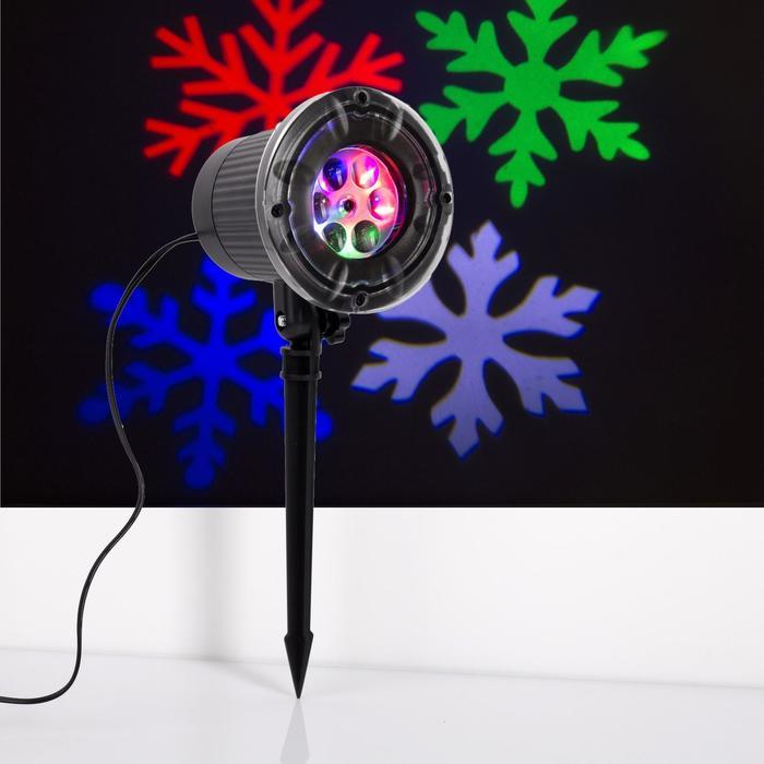 """Световой прибор """"Снежинки разноцветные"""", 9х26 см, 12V, МУЛЬТИ"""