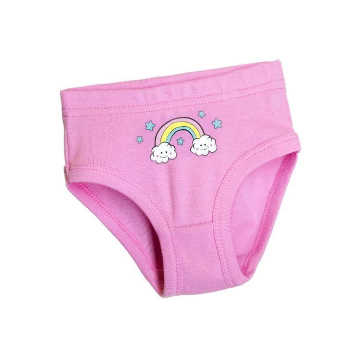 Трусы для девочек, рост 110-116 см, цвет розовый