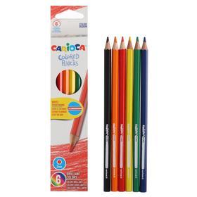 Карандаши 6цв Carioca Colored Pencils, дерево, заточ., шестигранные, к/к с е/п, микс 41256