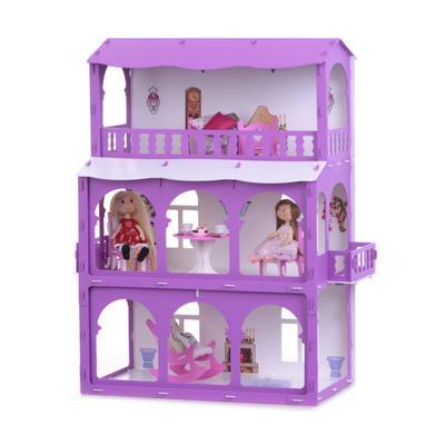 Домик для кукол «Дом Бриджит» бело-сиреневый - Фото 1