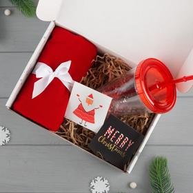 """Набор подарочный """"Merry Christmas"""" плед и акс"""