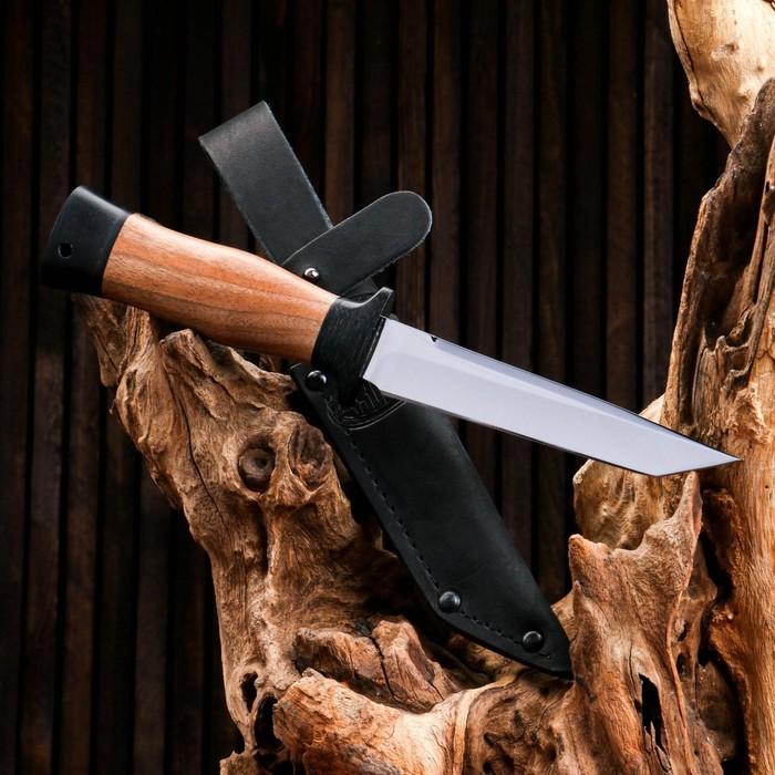 Нож охотничий «Командор» Н20, ст. ЭИ-107, рукоять текстолит, орех, 24,5 см