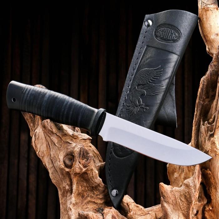 Нож охотничий «Ефрейтор» Н24, ст. ЭИ-107, рукоять текстолит, кожа, 15 см