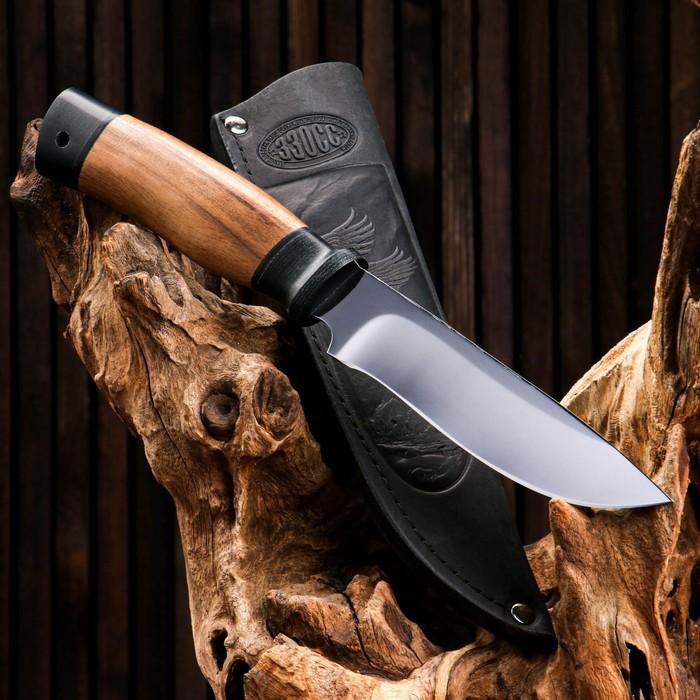 Нож охотничий «Идальго» Н29, ст. ЭИ-107, рукоять текстолит, орех, 25 см