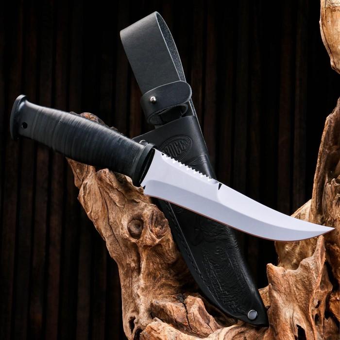 Нож охотничий «Морской патруль» Н69, ст. ЭИ-107, рукоять текстолит, кожа, 28,5 см