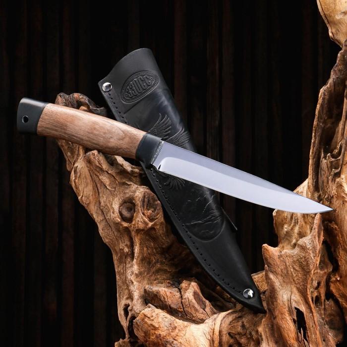 Нож охотничий «Батыр» Нр12, ст. ЭИ-107, рукоять текстолит, орех, 26 см