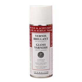 Лак-спрей для акрила и масла (аэрозоль), 400 мл, Sennelier, глянцевый, c UV-защитой