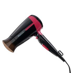 Фен KELLI KL-1120, 1800 Вт, 2 скорости, 2 температурных режима, черно-розовый