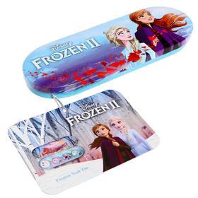 Игровой набор детской декоративной косметики для ногтей, в пенале маленький, Disney Frozen