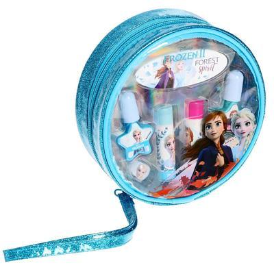 Игровой набор детской декоративной косметики для губ и ногтей, в круглой косметичке, Disney Frozen - Фото 1