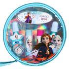 Игровой набор детской декоративной косметики для губ и ногтей, в круглой косметичке, Disney Frozen - Фото 2