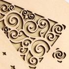 """Коробка деревянная, 15×9.5×5.5 см """"Новогодняя. Ёлочка"""", подарочная упаковка - Фото 4"""