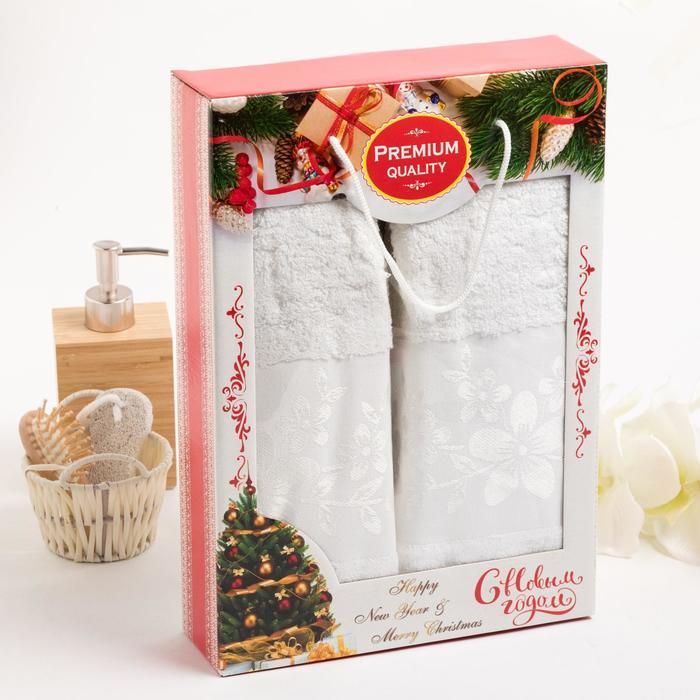 Комплект махровых полотенец в коробке Verona 50х90 см-2 шт