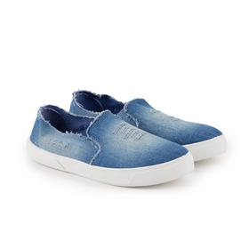 Слипоны женские, цвет синий, размер 36